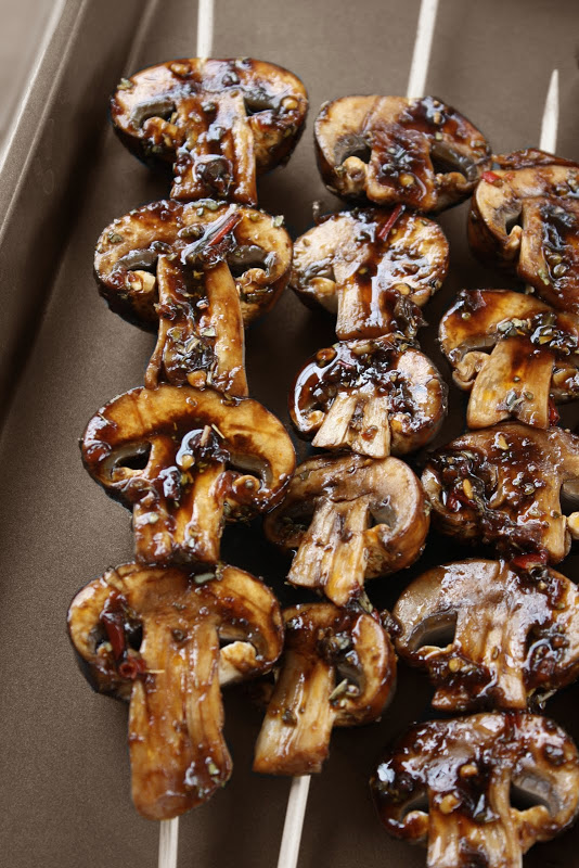 Mushroom Skewers