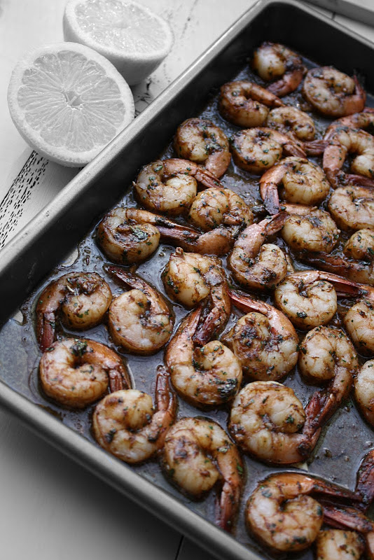 Moroccan Baked Shrimp: A Cross Between Chermoula and Pil Pil