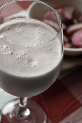 Rhubarb Smoothie with Floral Notes