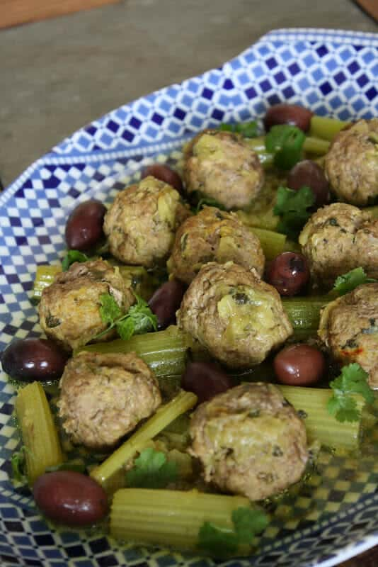 Meatballs with Celery and Saffron