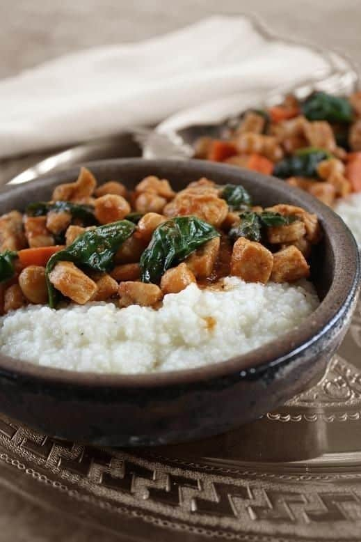 Quick Chicken and Vegetable Stew with Grits Recipe