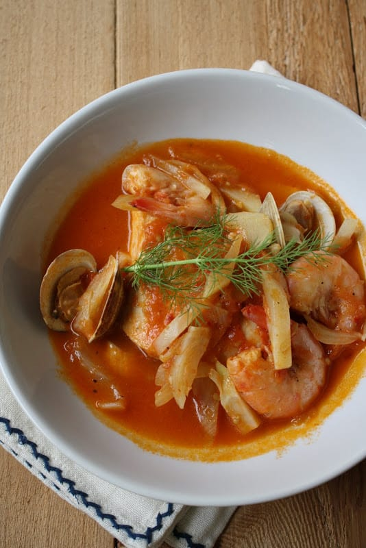 Fish Stew with Fennel and Harissa