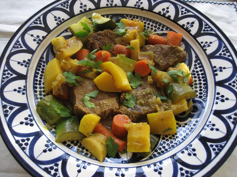Beef Tagine with Fall Vegetables and Harissa Recipe