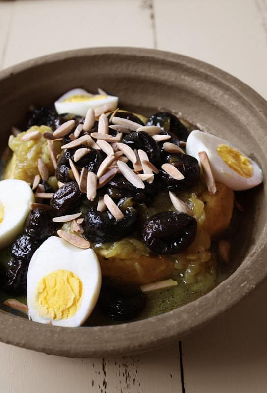 Chicken Tagine with Prunes and Toasted Almonds