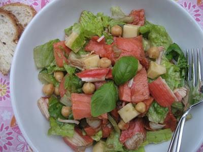 Chopped Seafood Salad with Garlic Vinaigrette