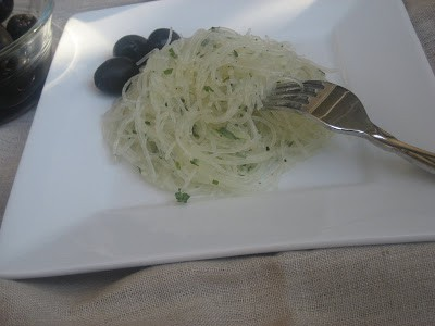 Glass Noodles with Lemon Garlic and Cilantro