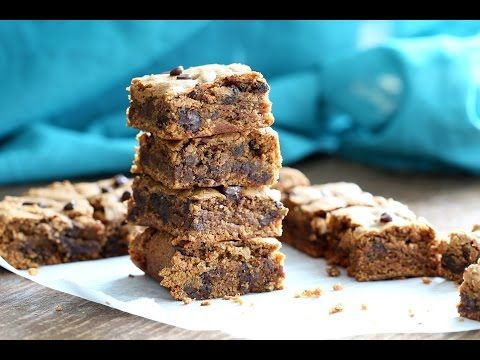 Gluten-Free Blondies with Almond Butter and Chocolate Chips