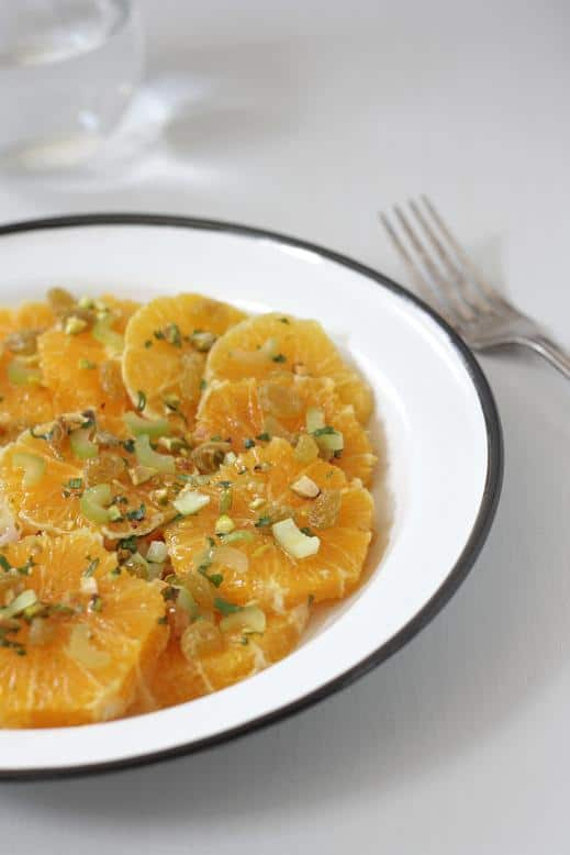 Orange Salad with Celery and Raisins