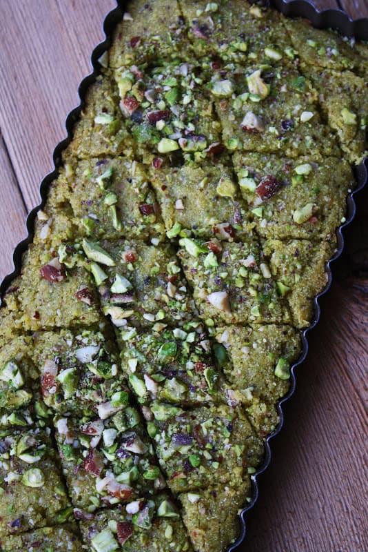 Pistachio Basboussa Recipe