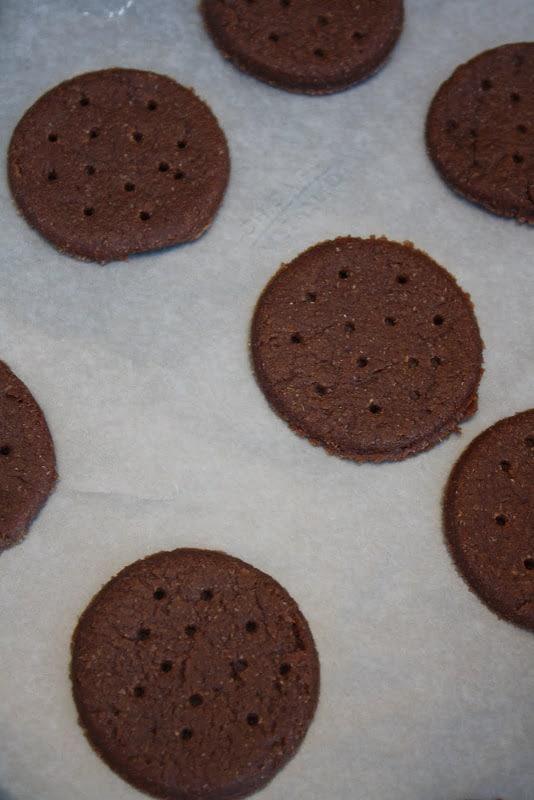 Chocolate Tahini Crackers