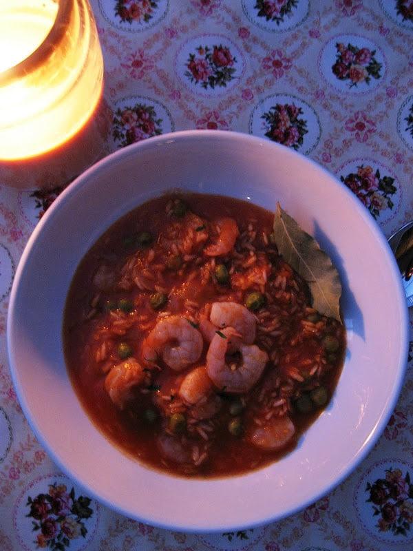 Shrimp and Pea Risotto